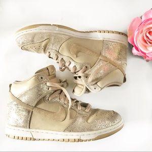 Womens Dunk Hi Wedge Pink Sneakers Sz 9